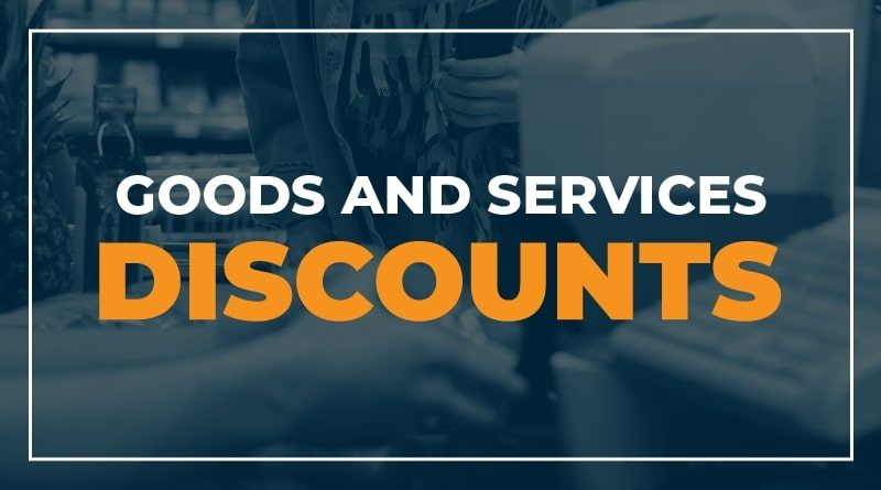 Goods and Services Discounts for Healthacre Workers and first Responders